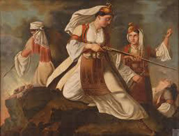 The women of Greece fighting for liberation from the Otoman Empire
