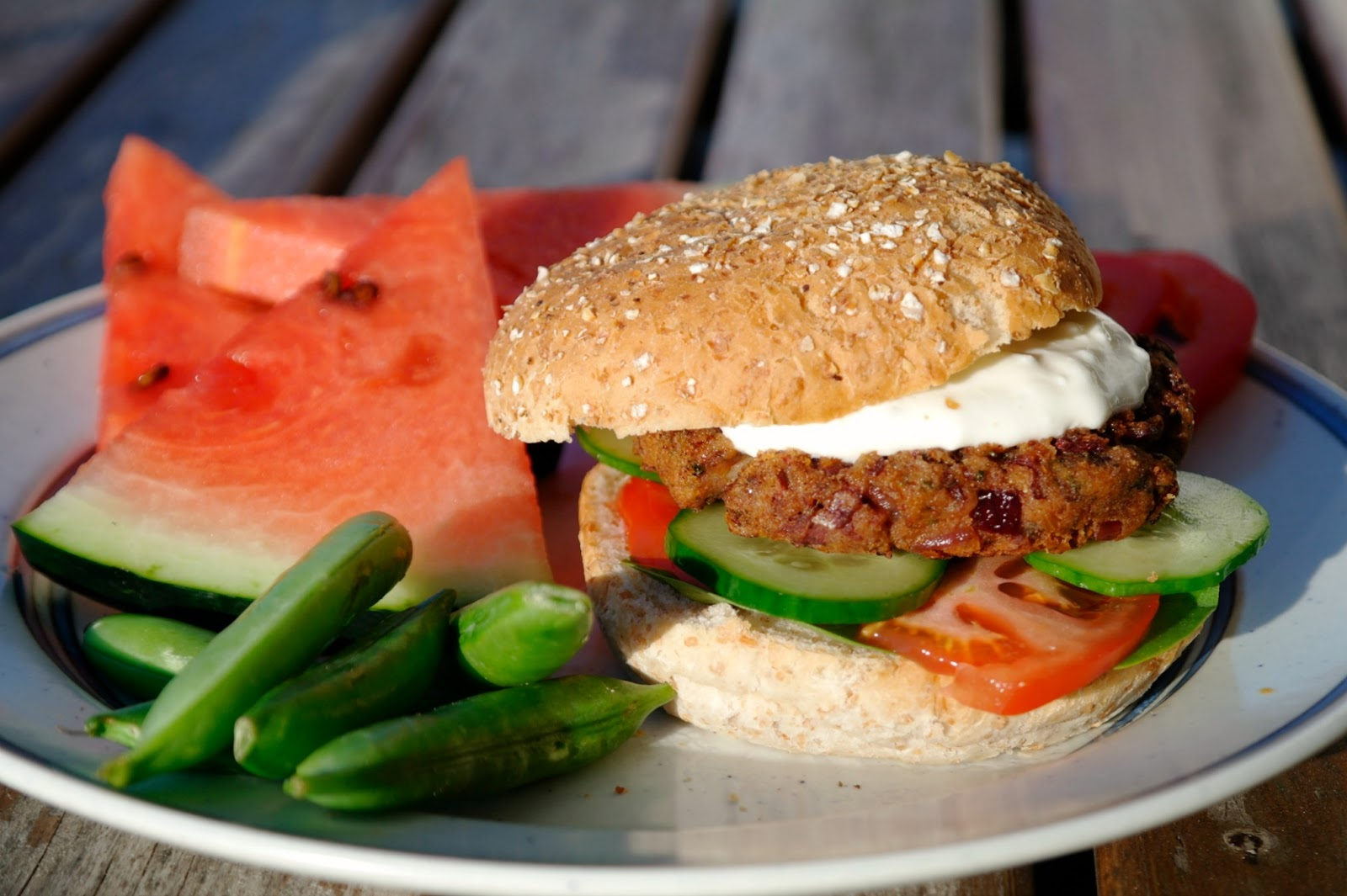 vegetariska hamburgare kidneybönor