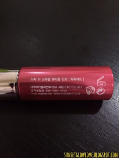 Missha The Style Beautiful Tint text on bottle