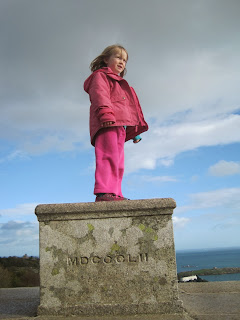 Girl standing on the top