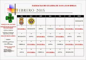 FARMACIAS DE GUARDIA FEBRERO 2015