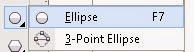 Ellipse tool pada Toolbox