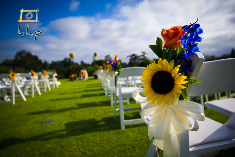 A detail shot of the ceremony site.