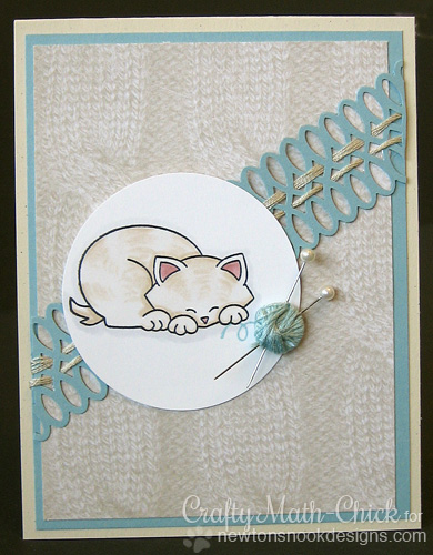 Yarn Kitty card by Crafty Math-Chick for Newton's Nook Designs - Newton's Antics