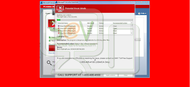 Windows-security-alert.info pop-ups (Falso soporte)