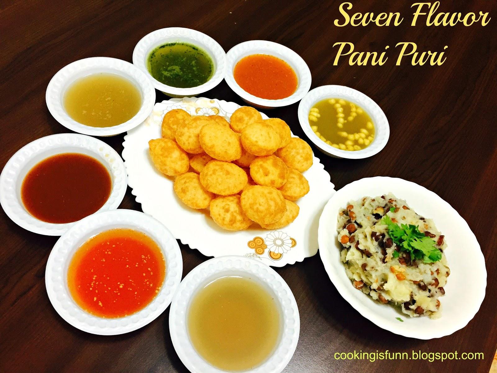 Cookingisfunn seven flavor pani puri street food seven flavor pani puri street food forumfinder Choice Image