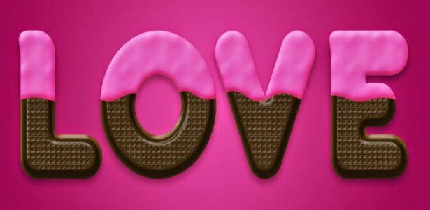 Chocolate Text Effect in Photoshop