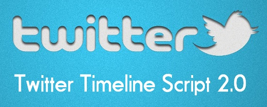 twitter timeline script 2.0 with php and jquery