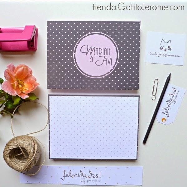 Fichas como libro de firmas para bodas