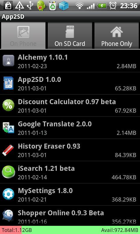 descargar app2sd