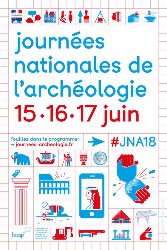 9e édition des Journées nationales de l'archéologie les 15, 16 et 17 juin 2018