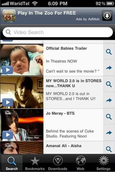 How to save facebook videos in iphone?