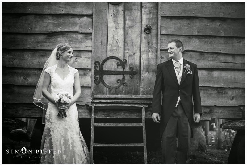 Bride and Groom at Maunsel House wedding
