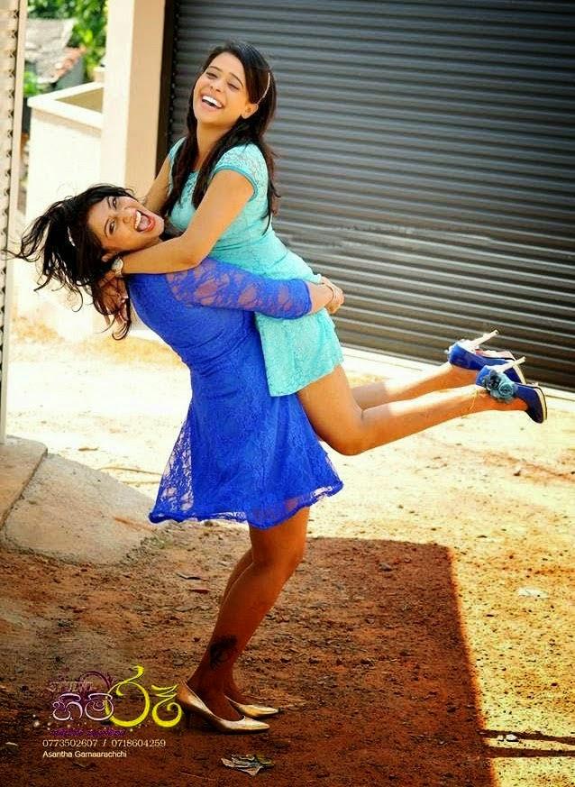 AKSHA & MENAKA hug hot