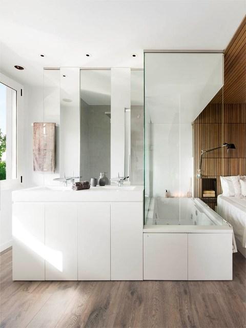 baño intergrado en dormitorio