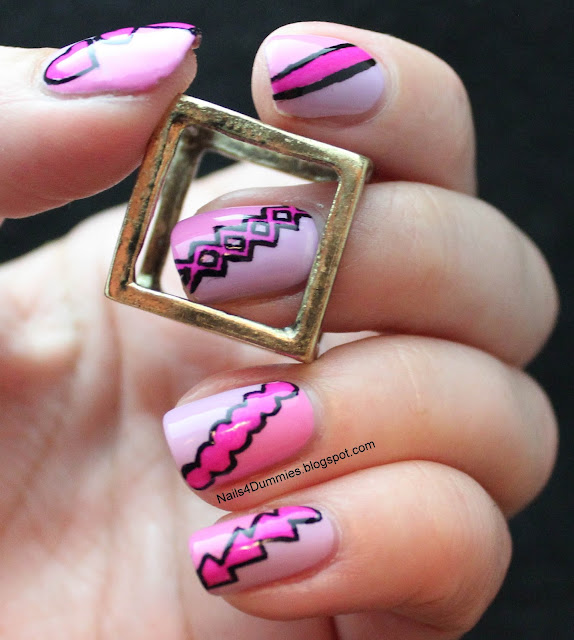 Nails4Dummies - Girly Geometric Nails