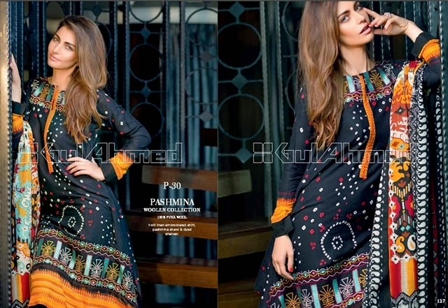 GulAhmed A/W Pashmina Woolen Collection 2014-15