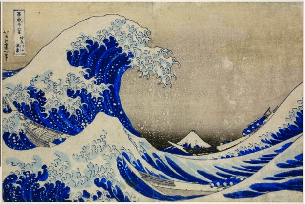 Hokusai - Sous la vague au large de Kanagawa,1830-31.