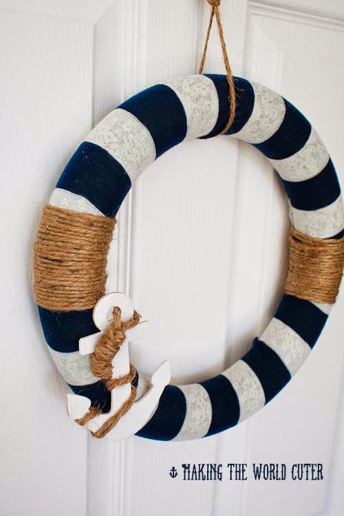 Nautical Wreath from Making the World Cuter