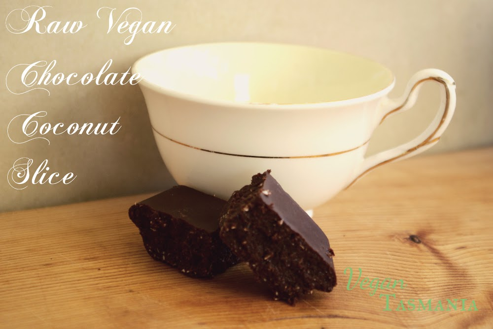 raw vegan dairy-free gluten-free sugar-free chocolate coconut slice dessert recipe