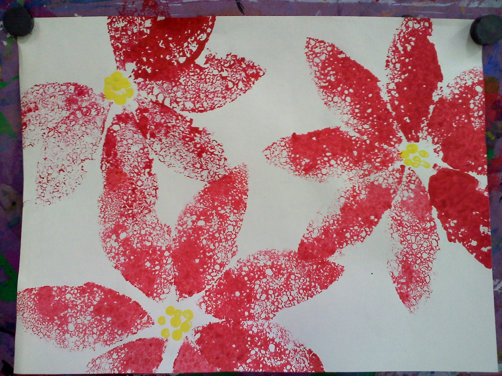 Keep calm and crayon complementary poinsettias for Mexican christmas crafts for kids