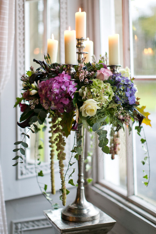 Candelabra with flower display