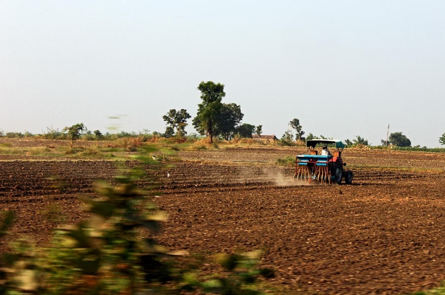 Tractor on a Gujarat farm