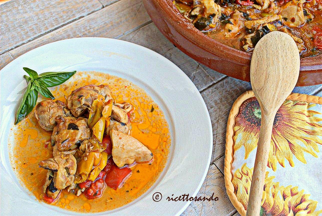 Bocconcini di pollo ai peperoni ricetta con verdure ottimo piatto unico