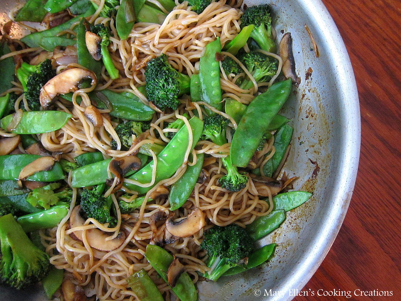 Mary Ellen's Cooking Creations: Vegetable Lo Mein