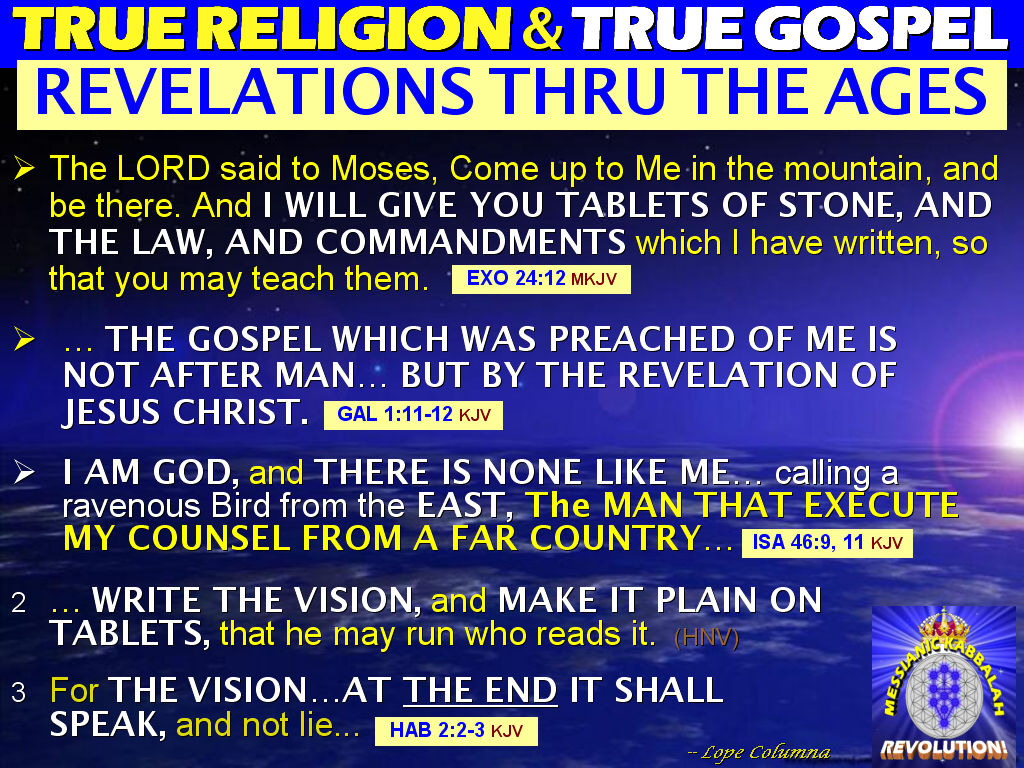 the revelations of jesus christ in the gospel of mark Revelation 12:17 and 14:12 do not teach we must keep the 10 commandments in addition to the gospel  mark on their forehead and  jesus christ is a part of the.