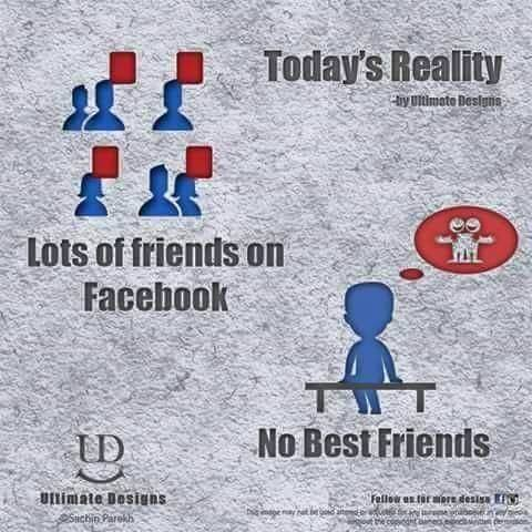 Today's Reality lots of facebook friends no best friends