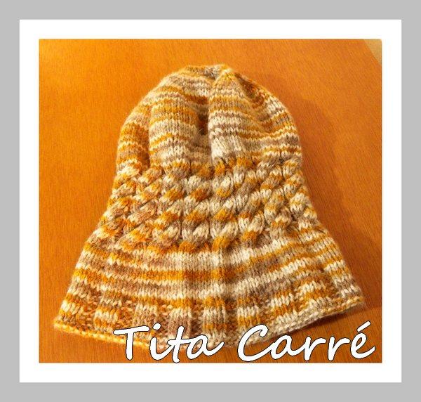 Gorro\Touca star em tons terra em tricot