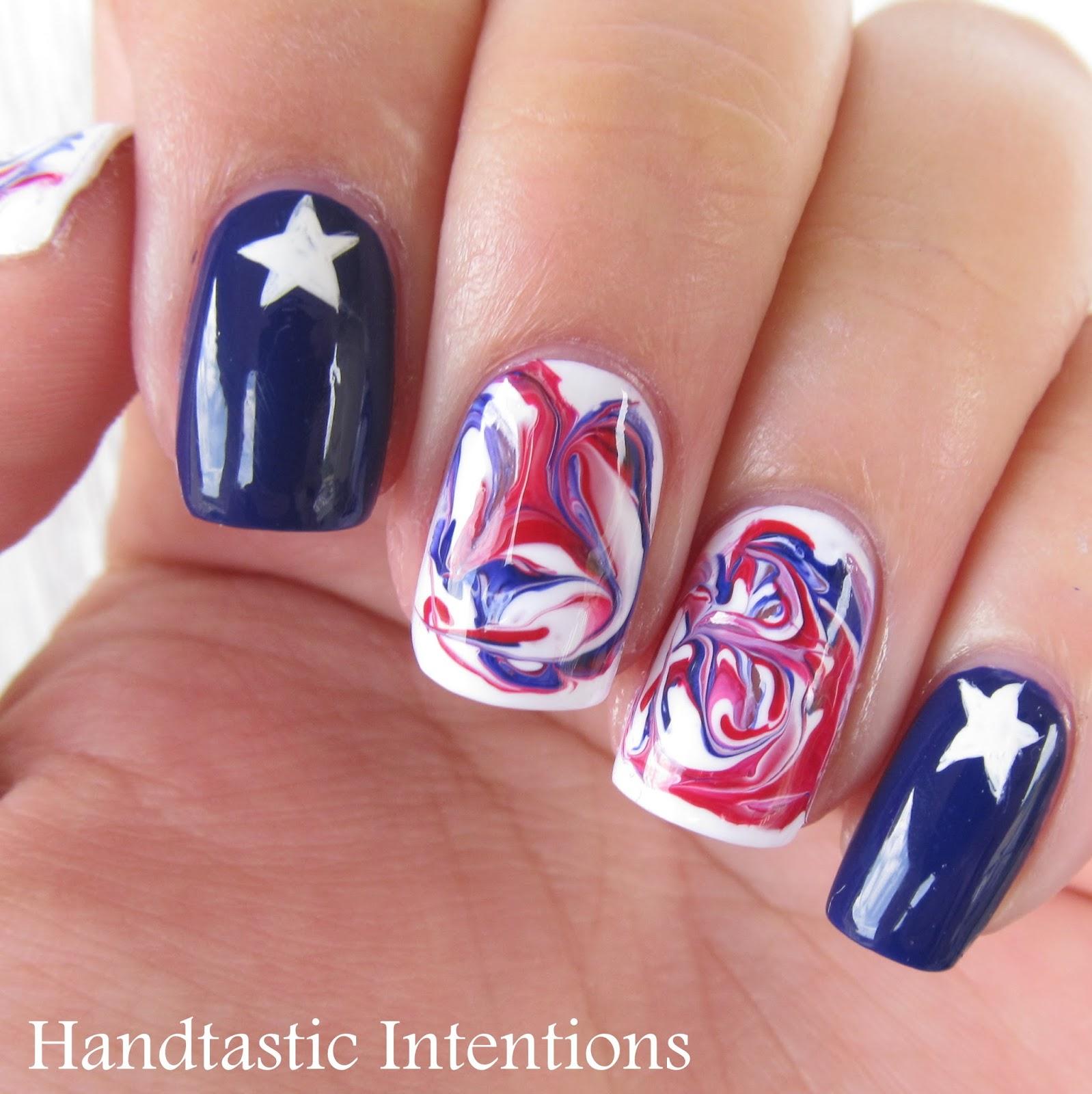 Patriotic-Nail-Art-Dry-Marble-2