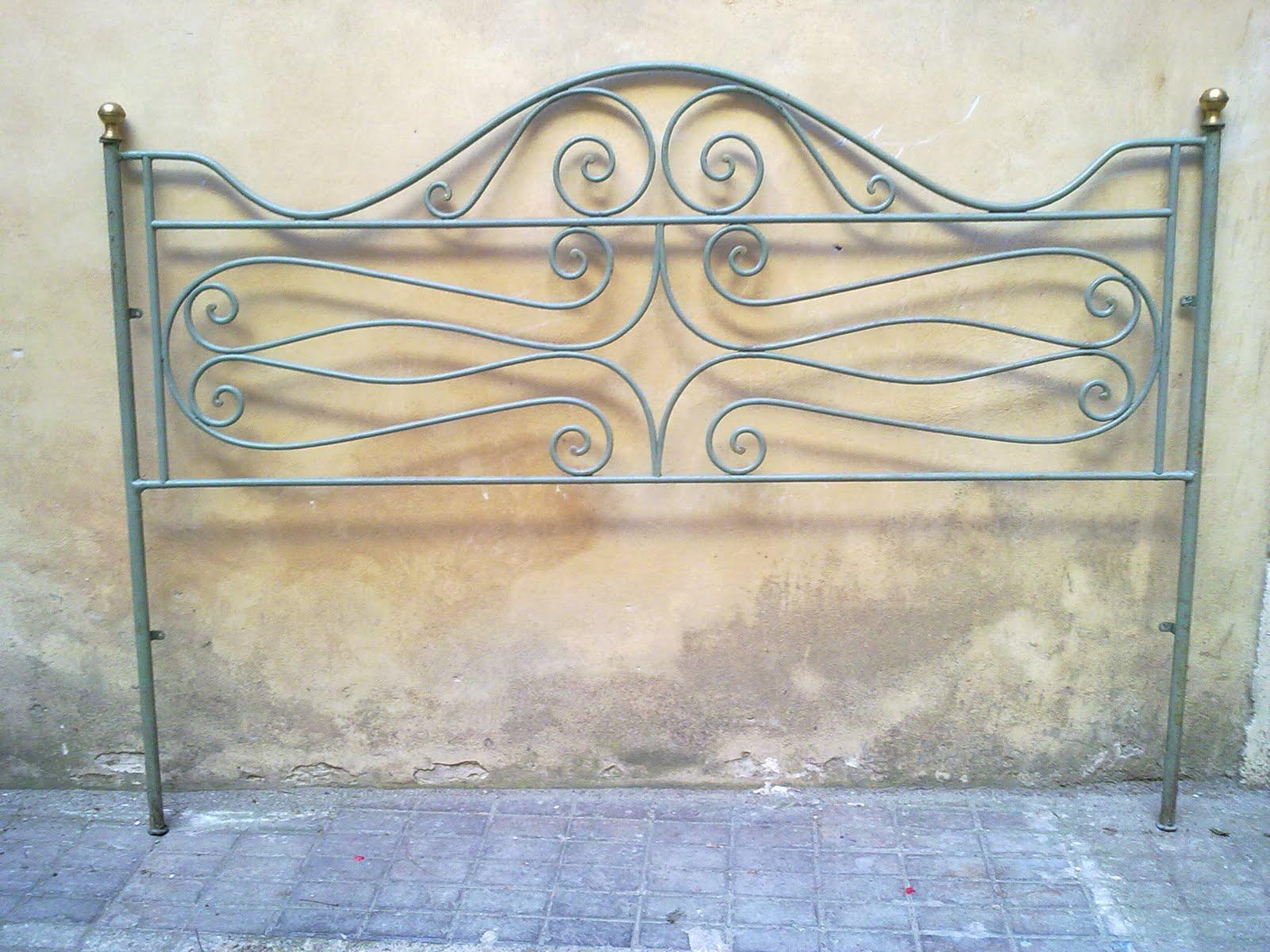Ditta brogani maurizio lavori in ferro battuto e restauri - Testiera letto ferro ...