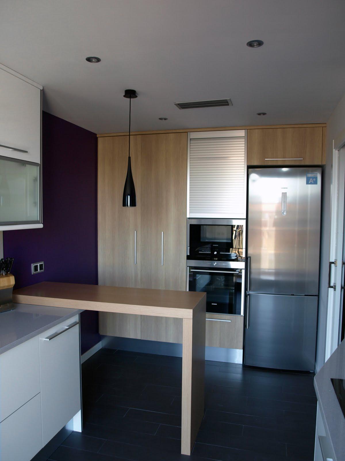 Cocina en paralelo con barra decoraci n for Cocinas en paralelo