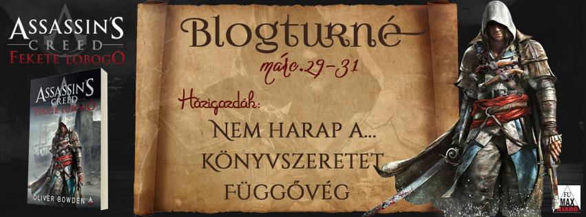 Blogturné ~ Oliver Bowden – Assassin's Creed: Fekete Lobogó