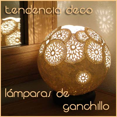 Tendencia Deco: lámparas de ganchillo