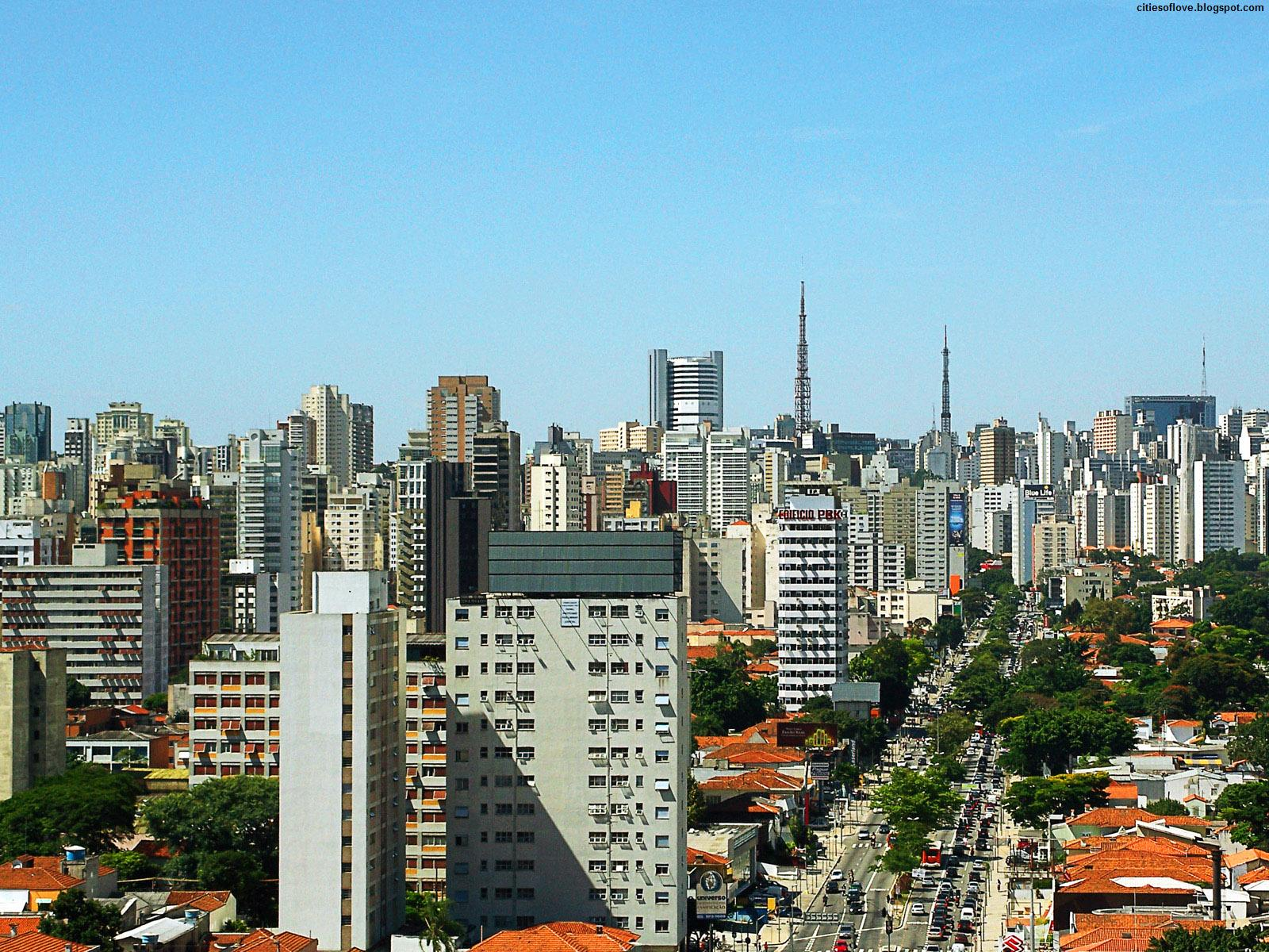 Skyline of Brazilian Largest City Brazil Hd Desktop Wallpaper