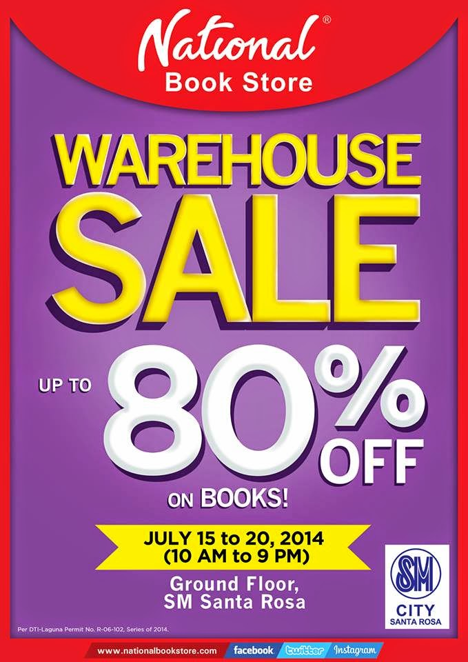 Find Great Bargains And Finds At National Book Stores Warehouse Sale In SM Santa Rosa Get Up To 80 Off On Books July 15 20 2014