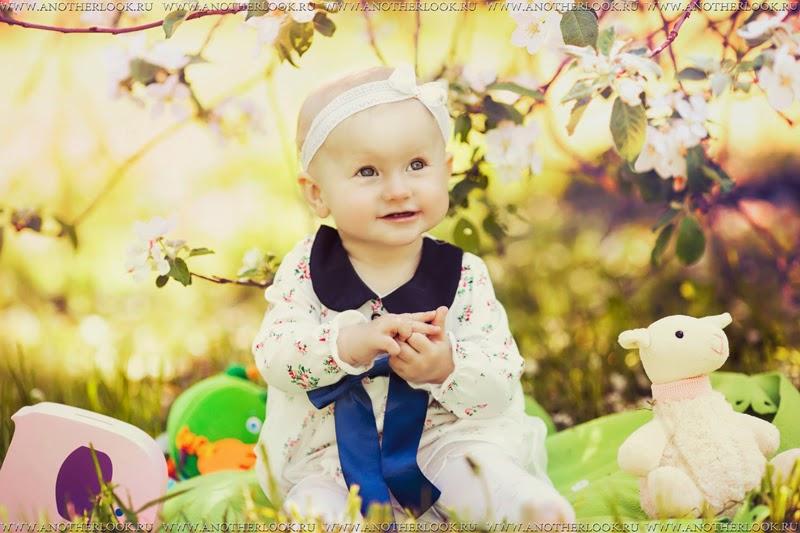 яблони и детские фотосессиии