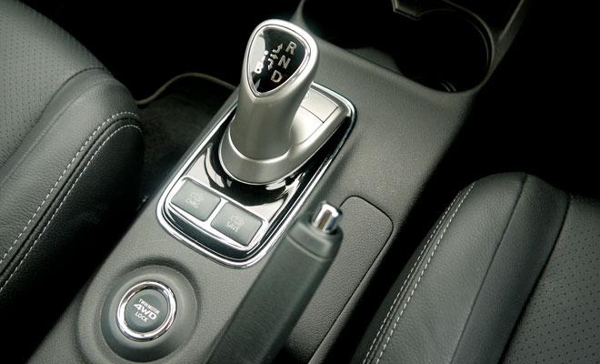 Mitsubishi Outlander PHEV gearstick