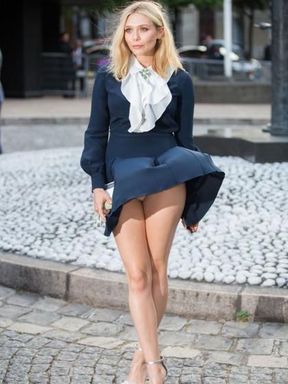 Vestido de Elizabeth Olsen voando na França...