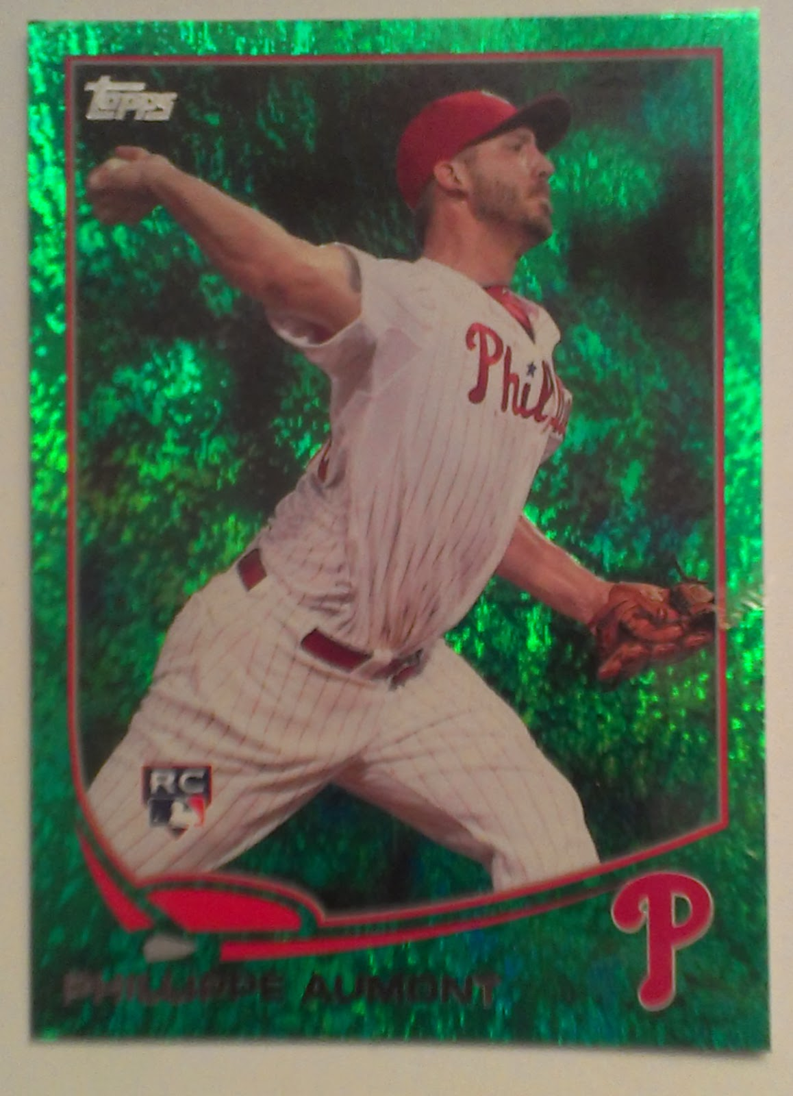 Phungo: 2013 Topps #646 Phillippe Aumont: Phillies Green Parallels ...