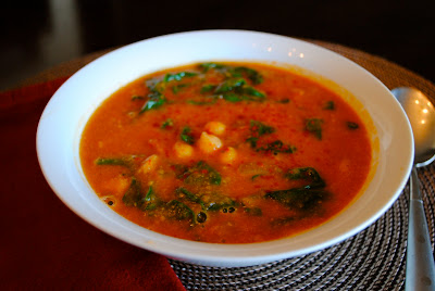 Суп из нута в морокканском стиле