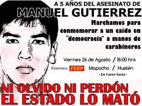 CERRO NAVIA: A 5 AÑOS DEL ASESINATO DE MANUEL GUTIERREZ