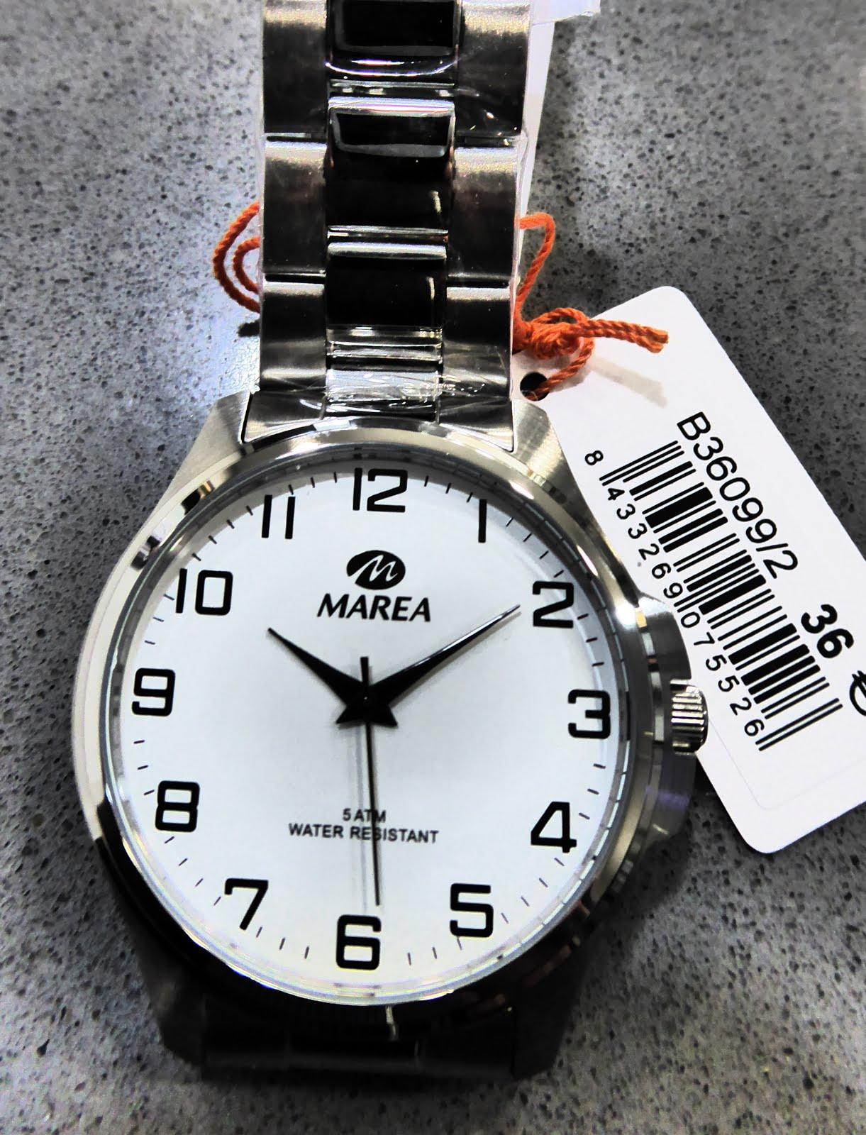 Reloj Marea caballero, para ver la hora sin gafas