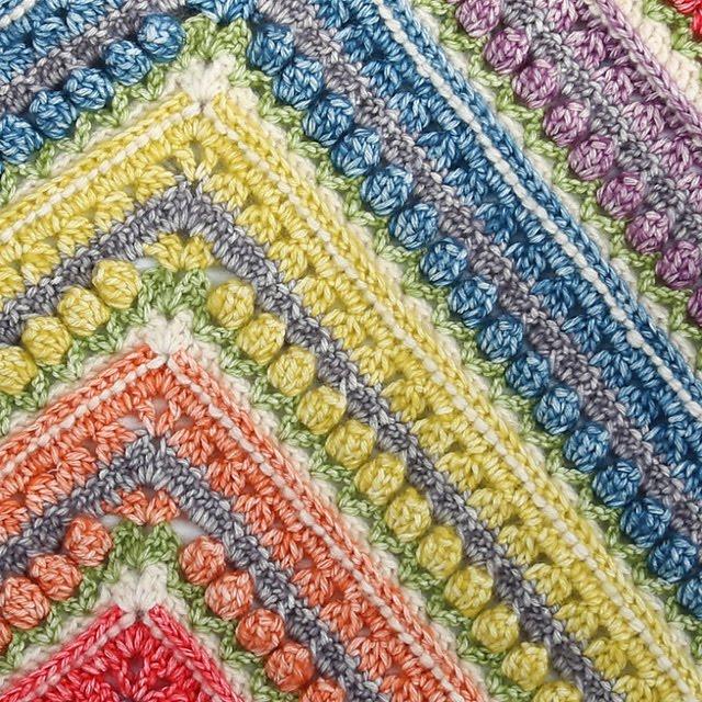 naturalmente lanas: Manta a ganchillo Namaqualand con algodón Stone ...