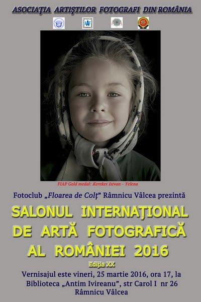 SALONUL INTERNAȚIONAL DE ARTĂ FOTOGRAFICĂ AL ROMÂNIEI la Rm. Vâlcea