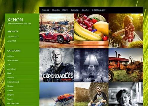 Xenon Free Photography WordPress Theme