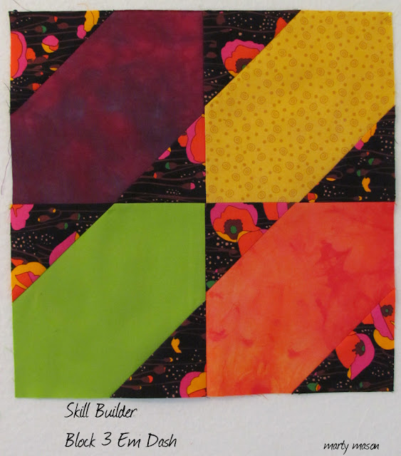 Skill Builder modern quilt block no. 3